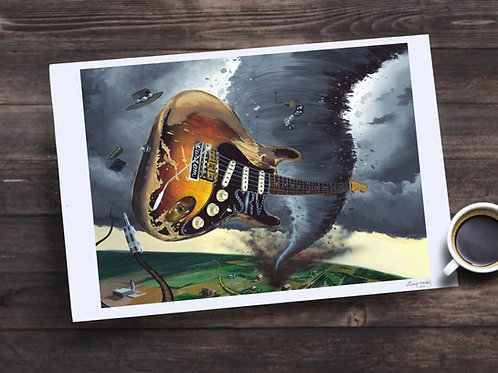 Stevie Ray Vaughn Limited Edition Print