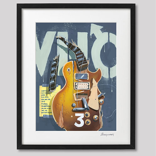 Pete Townshend ( The Who)   framed print