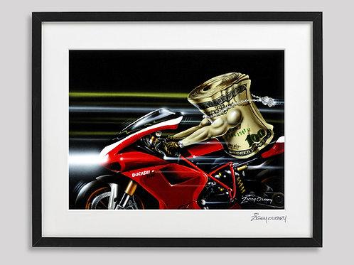 """Duca$hi""   framed print"