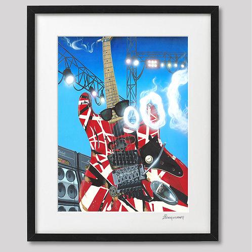 "Eddie's ""FRANKENSTEIN"" Guitar framed print"