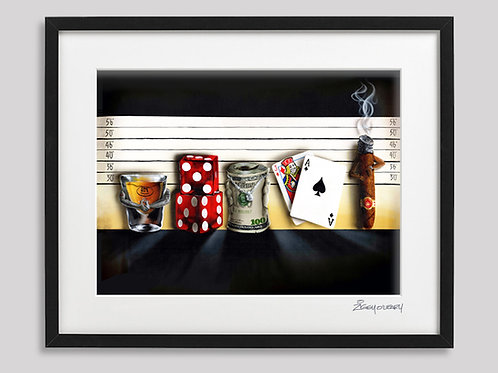 """The Line Up""   framed print"