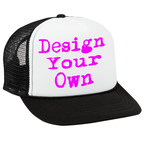 37a8d0c6 Design Your Own hats can be as unique and as creative as you want. We can  include your favorite hobbies, interest, teams, pretty much what every you  want.