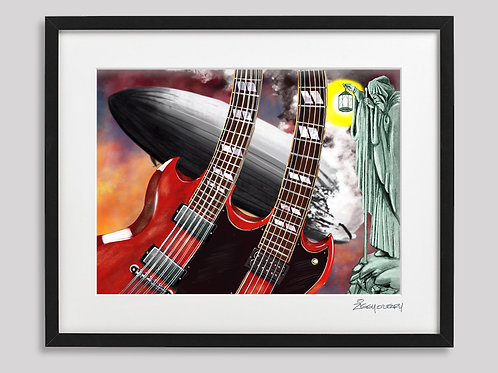 """Jimmy Page"" framed print"