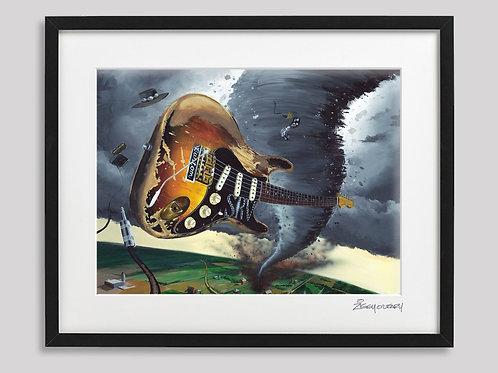 """Stevie Ray Vaughn"" framed print"
