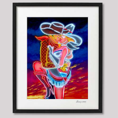 """""""Vegas Kiss""""   framed print"""