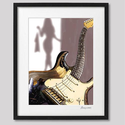 """John Mayer's """"the Black One""""   framed print"""