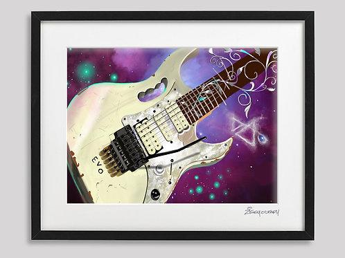 """Steve Vai"" framed print"