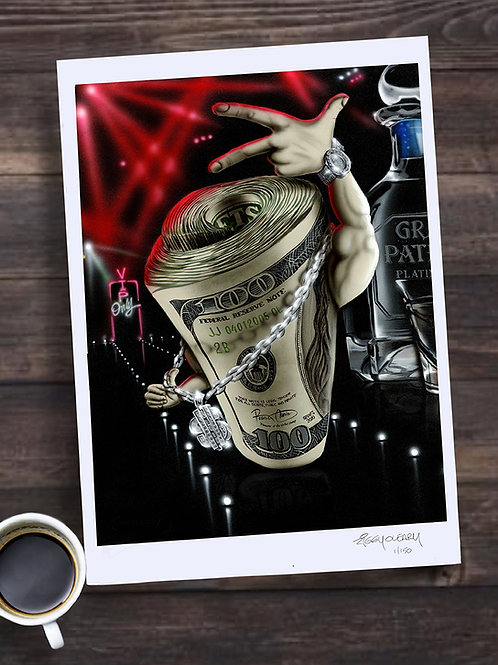 """Big Money"" 13X19 print"