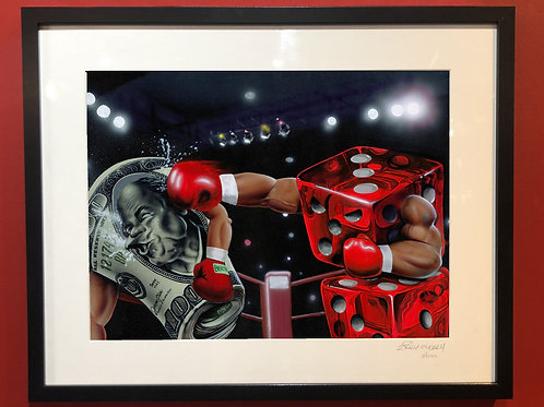"""Rollin' with the Punches"" Framed Print"