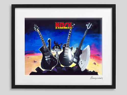 "K I S S     ""Destroyer""   framed print"