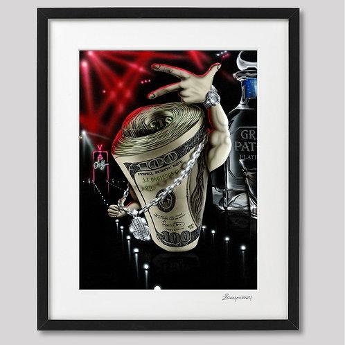 """""""Big Money""""   framed print"""