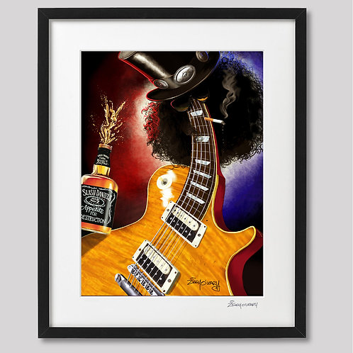 """Slash""   framed print"