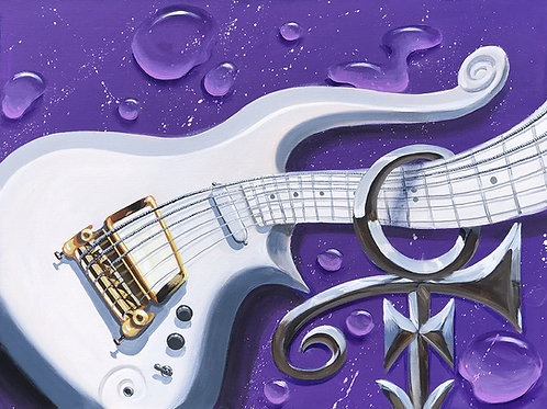 """Purple Rain"" Cloud guitar  Original Painting 24x30"