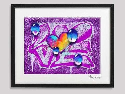 """""""Love"""" framed print"""