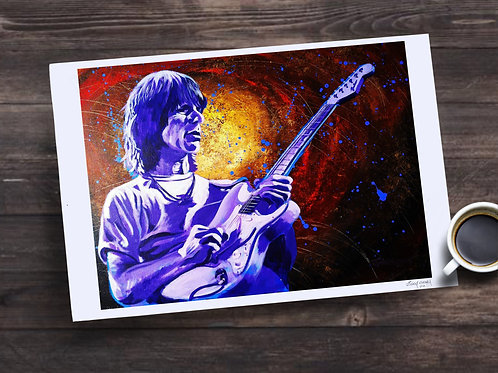 Jeff Beck Limited Edition Print