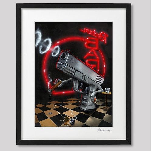 """""""Murder in the Redrum Bar"""" framed print"""