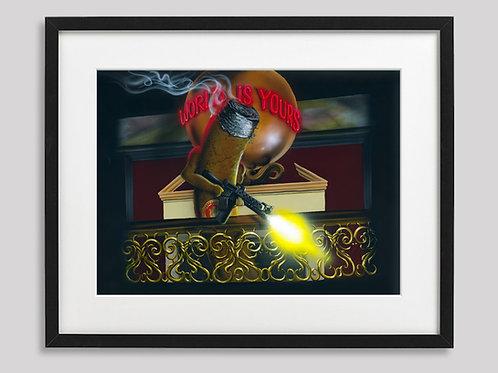 """CigarFace""   framed print"