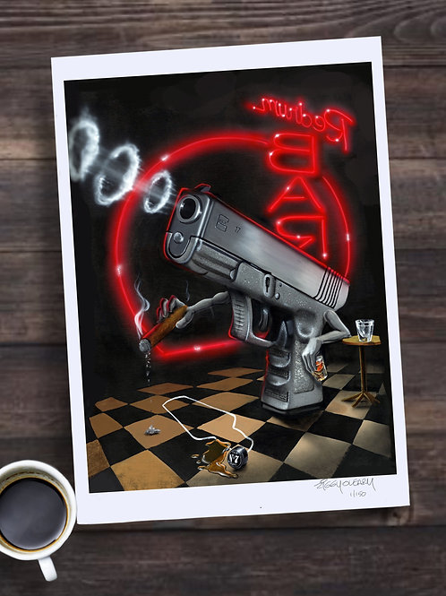 Murder at Redrum Bar Limited Edition Print