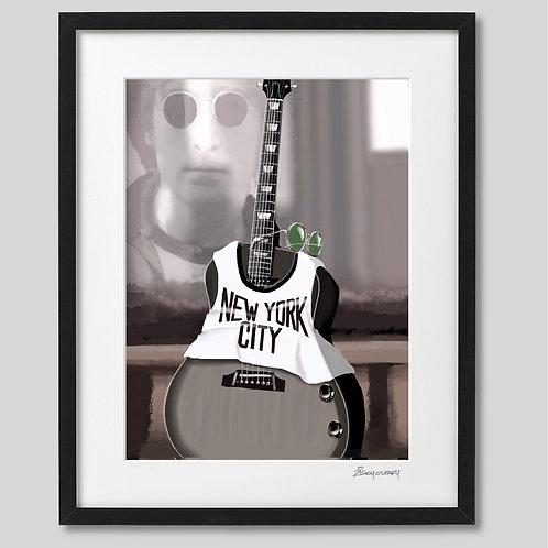 """""""John Lennon"""" framed print"""