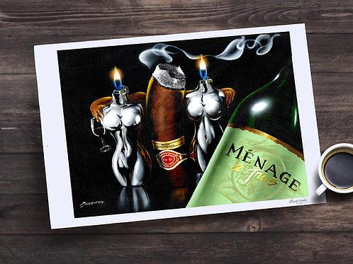 """Menage A Trios"" 13X19 print"
