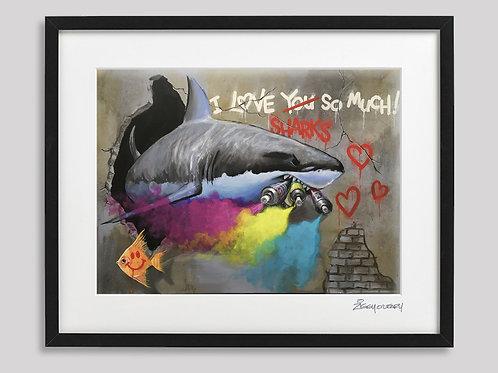 """""""Sick Vandalism"""" framed print"""