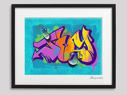 """Joy"" framed print"