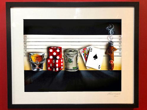"the ""Line Up"" Framed print"