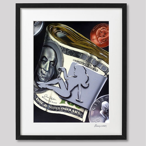 """Dirty Money"" framed print"