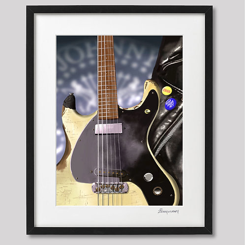 """Johnny Ramone"" framed print"