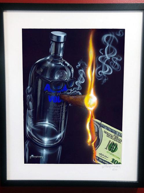 Absolutly Smoke'n Framed Print