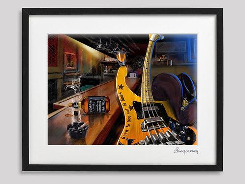 """Lemmy"" (Motorhead)   framed print"
