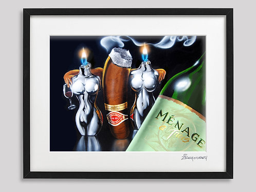 """Menage a Trios"" framed print"