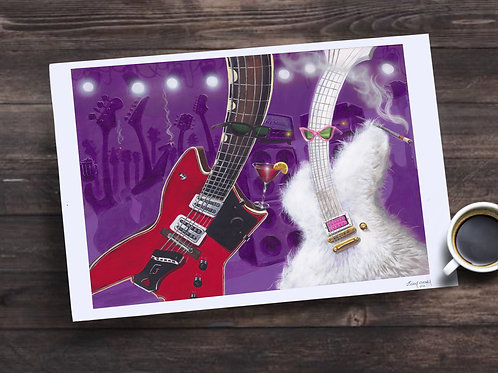 Billy Gibbons ZZTop Limited Edition Print