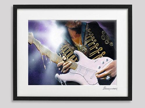 """Jimi Hendrix"" framed print"