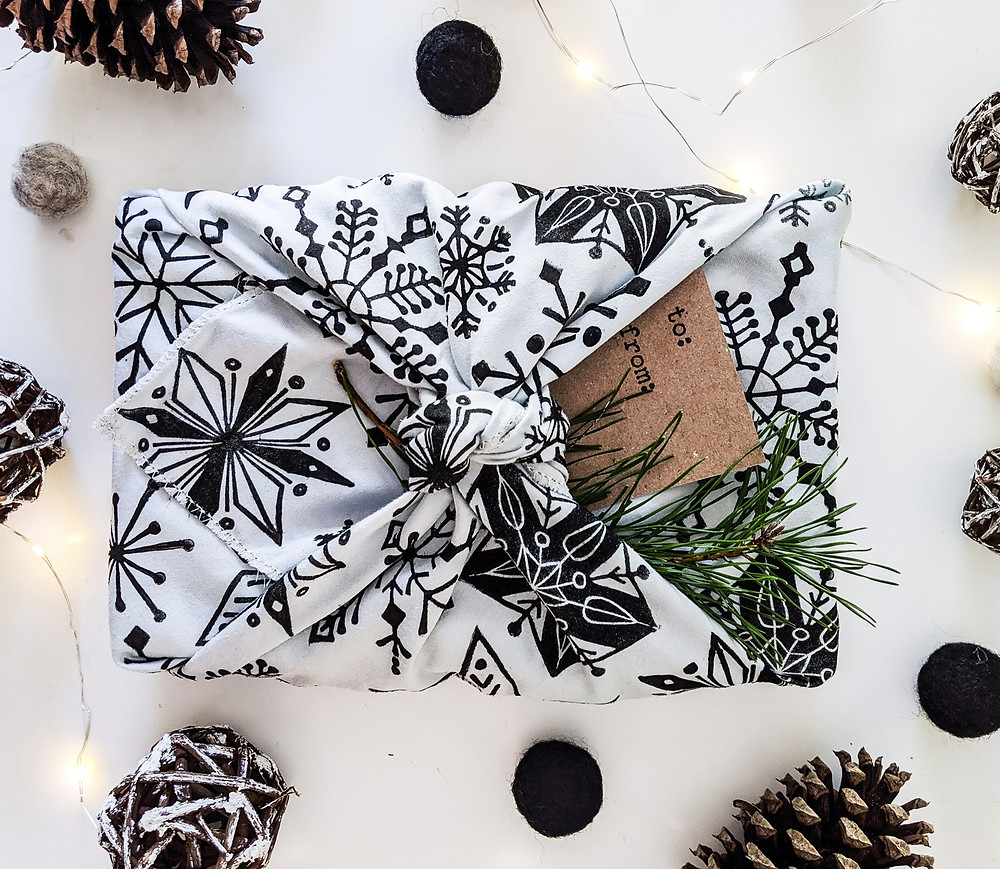 Reusable Wrapping Material for Gifts Gift package