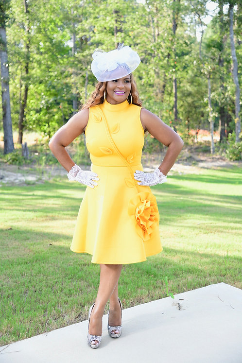 Southern Bell Yellow Dress