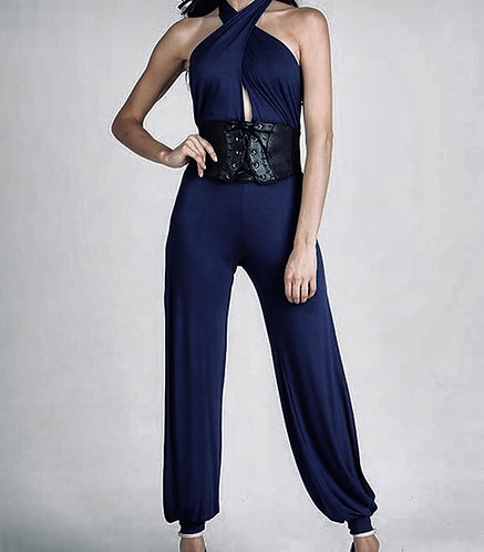 Jumpsuit  with wide belt