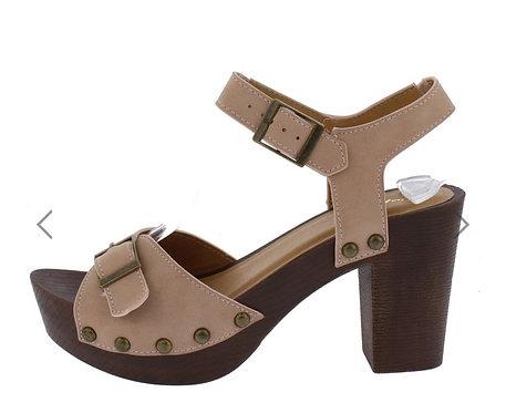 Blush Wooden Heels
