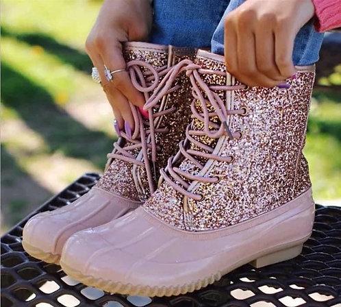 Rose Gold Rain Boots