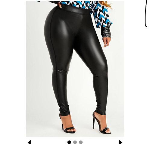 Faux leather pants (curvy )
