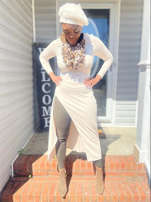 Ivory Long Blouse/Dress