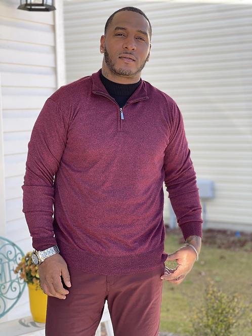 Men's Lightweight Burgundy  Sweater