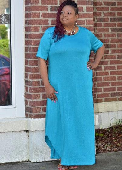 Tiffany Blue Plus Dress