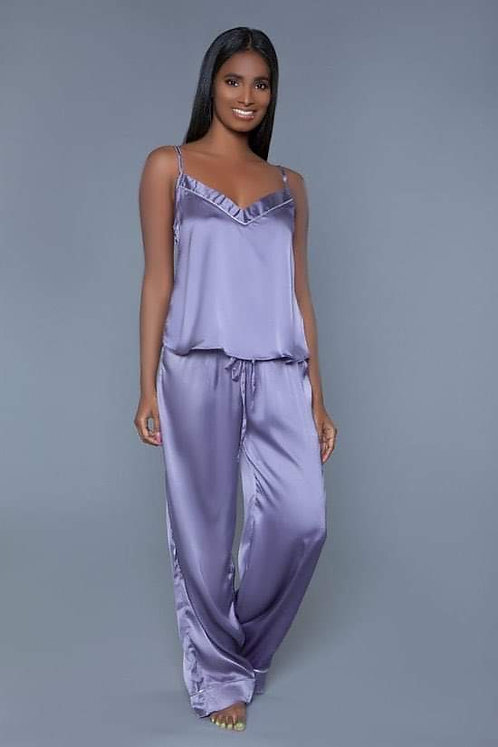 2pc Satin Pajama Set
