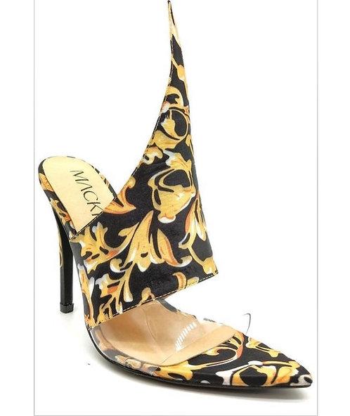 Black and Yellow Heels