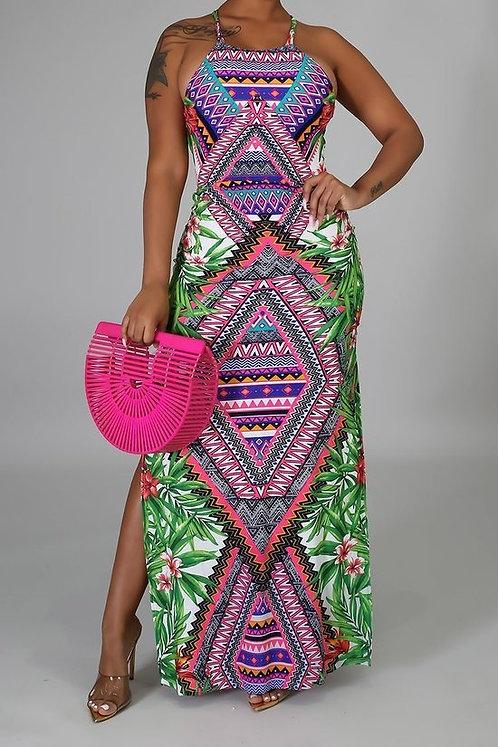 Tropical Aztec Dress Category: Midi & Maxi Dresses