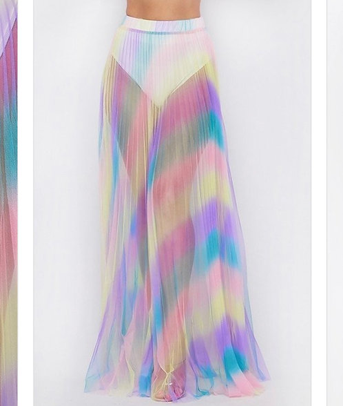 Unicorn Rainbow Sheer Cover/Skirt