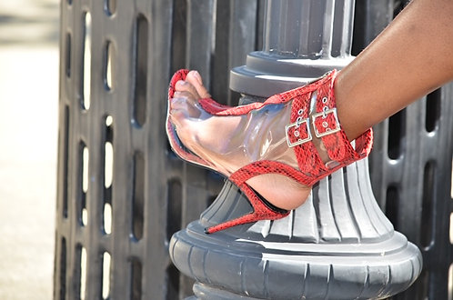 Sexy Red  Clear Heels