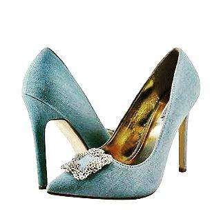 Diamond Jeans Heels