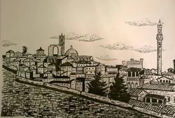 Siena vista dalla Basilica dei Servi